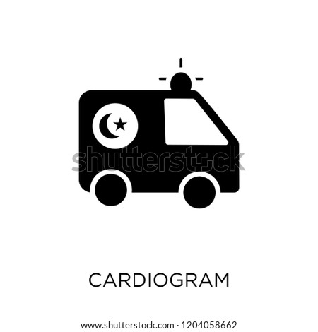 Cardiogram icon. Cardiogram symbol design from Health and medical collection. Simple element vector illustration on white background.