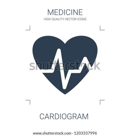 cardiogram icon. high quality filled cardiogram icon on white background. from medical collection flat trendy vector cardiogram symbol. use for web and mobile