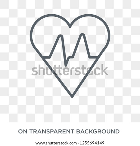 Cardiogram icon. Trendy flat vector Cardiogram icon on transparent background from Health and Medical collection. High quality filled Cardiogram symbol use for web and mobile
