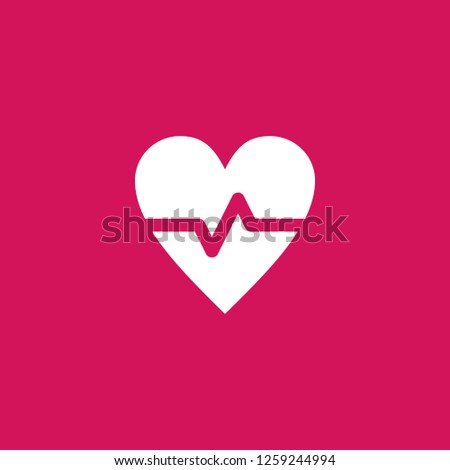 cardiogram icon vector. cardiogram sign on pink background. cardiogram icon for web and app
