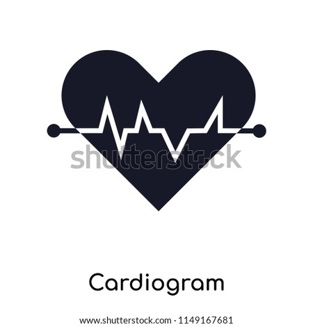 Cardiogram icon vector isolated on white background for your web and mobile app design, Cardiogram logo concept