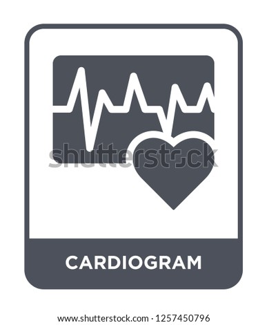 cardiogram icon vector on white background, cardiogram trendy filled icons from Medical collection, cardiogram simple element illustration