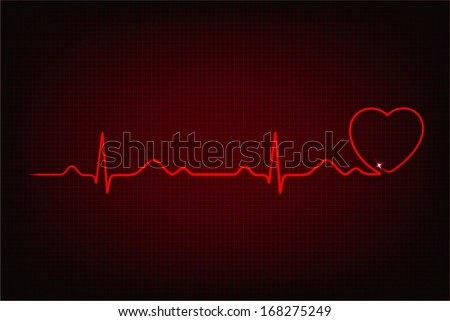 Cardiogram of love and health. Cardiogram line forming heart shape Foto stock ©