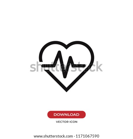 Cardiogram vector icon. Heartbeat,healthy symbol. Flat vector sign isolated on white background. Simple vector illustration for graphic and web design.