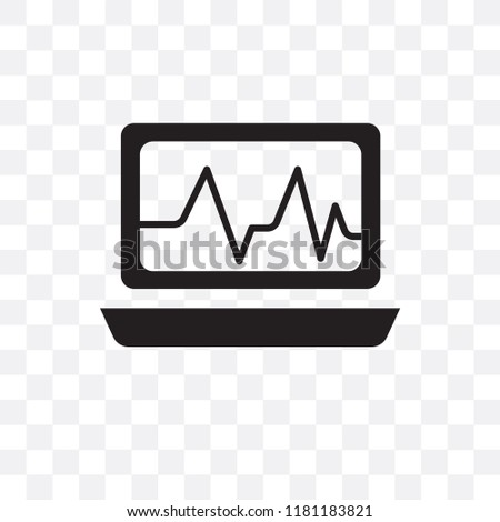 Cardiogram vector icon isolated on transparent background, Cardiogram logo concept