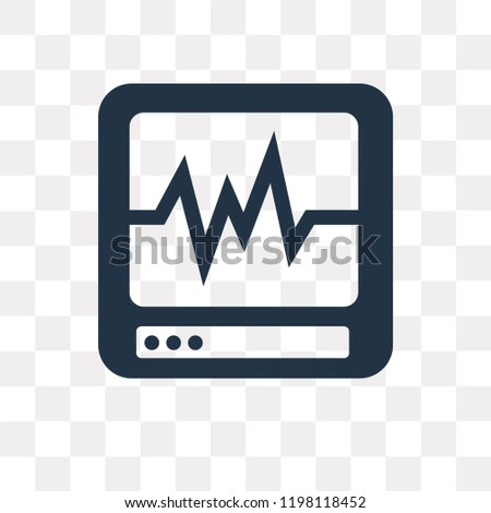 Cardiogram vector icon isolated on transparent background, Cardiogram transparency concept can be used web and mobile