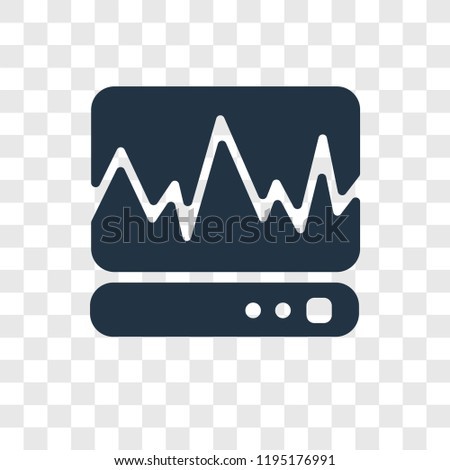 Cardiogram vector icon isolated on transparent background, Cardiogram transparency logo concept
