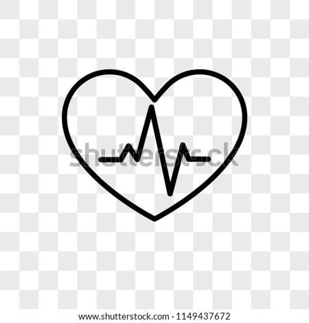 Cardiogram vector icon on transparent background, Cardiogram icon