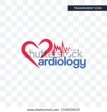 cardiology vector icon isolated on transparent background, cardiology logo concept