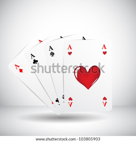 cards background with four aces