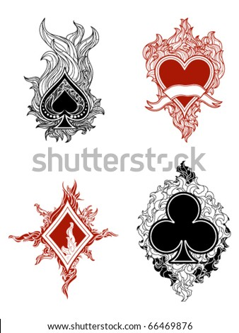 Cards Suit - stock vector