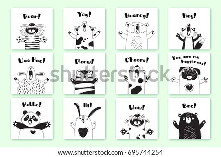 cards with funny animals and