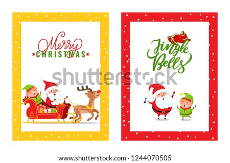cards with santa claus