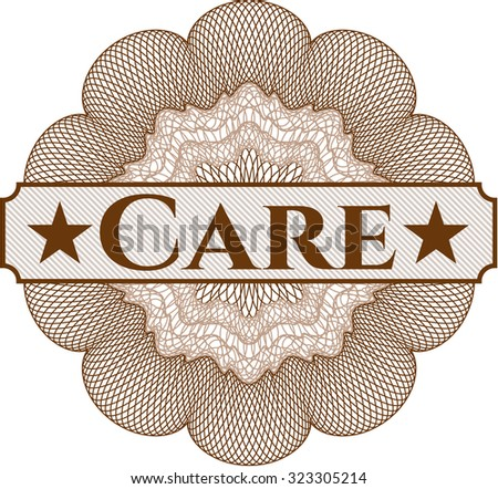 Care abstract linear rosette