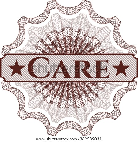 Care abstract rosette