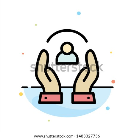 Care, Caring, Human, People, Protection Abstract Flat Color Icon Template