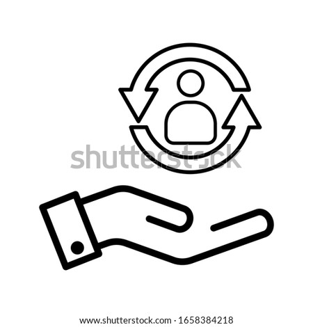 care customer icon, total inclusive service on white background