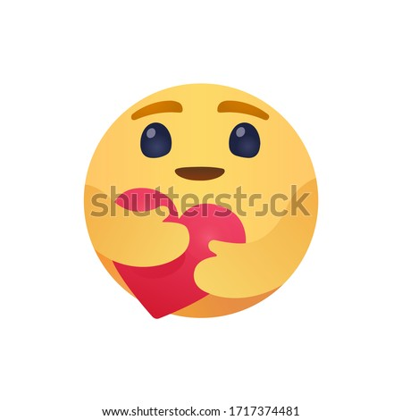 Care Emoji Popular Social Media New emoji  We are in this together design  isolated vector file