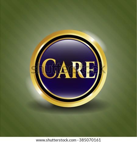Care gold shiny emblem