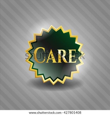 Care golden emblem