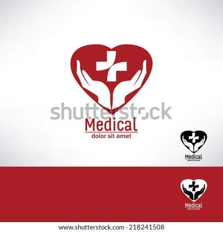 Care  heart. Vector icon