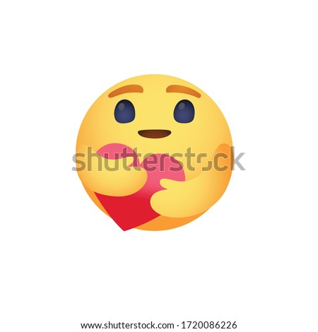 Care reaction love emoji vector design