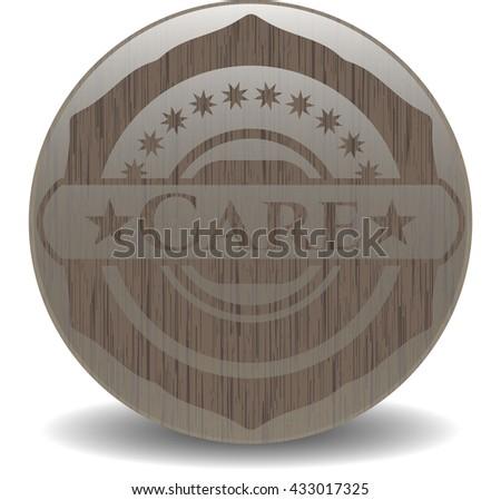 Care retro wooden emblem
