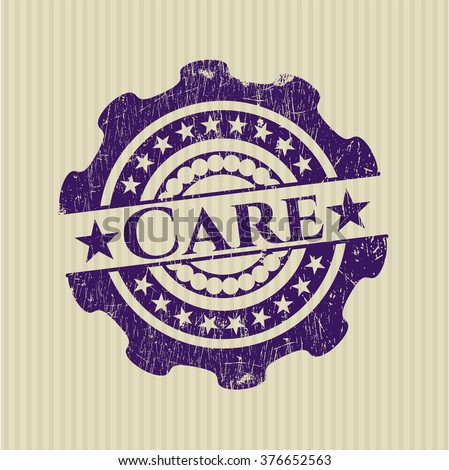 Care rubber grunge texture seal