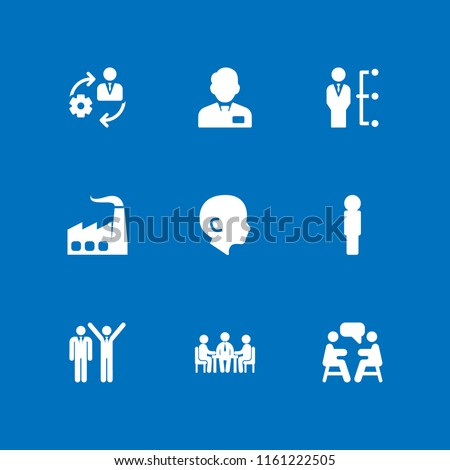 career icon. 9 career set with human, manager, business meeting and management vector icons for web and mobile app