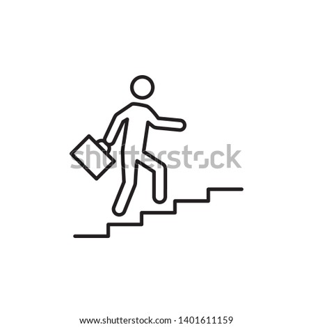 career icon, illustration vector template
