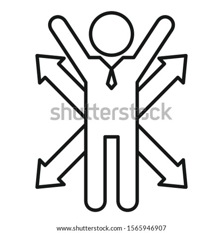 Career opportunity icon. Outline career opportunity vector icon for web design isolated on white background