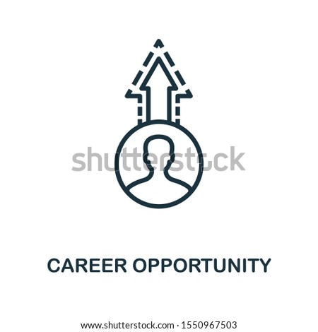 Career Opportunity icon outline style. Thin line creative Career Opportunity icon for logo, graphic design and more.