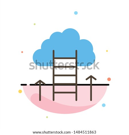 Career Path, Career, Dream, Success, Focus Abstract Flat Color Icon Template. Vector Icon Template background