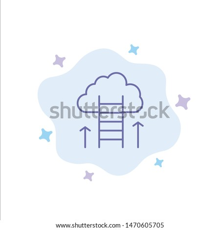 Career Path, Career, Dream, Success, Focus Blue Icon on Abstract Cloud Background. Vector Icon Template background