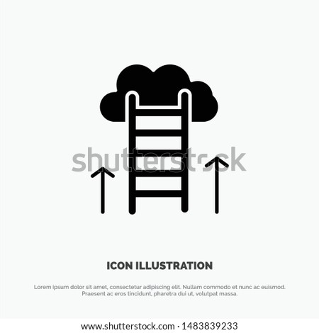 Career Path, Career, Dream, Success, Focus solid Glyph Icon vector