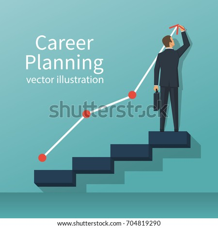 career planning. businessman...
