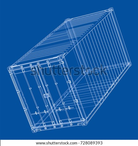 cargo container wire frame