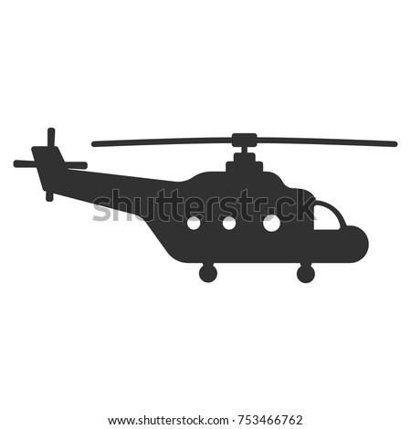 Cargo helicopter monochrome icon