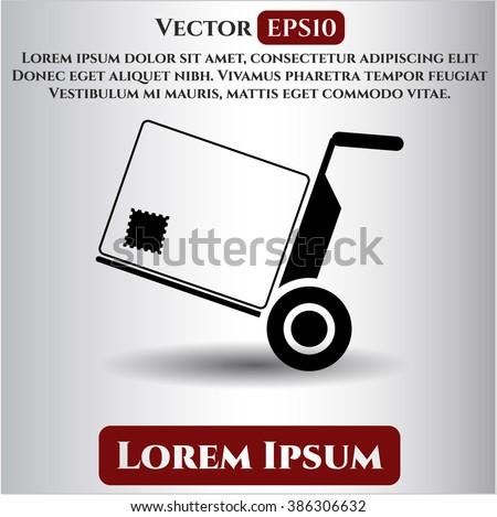 Cargo icon vector illustration