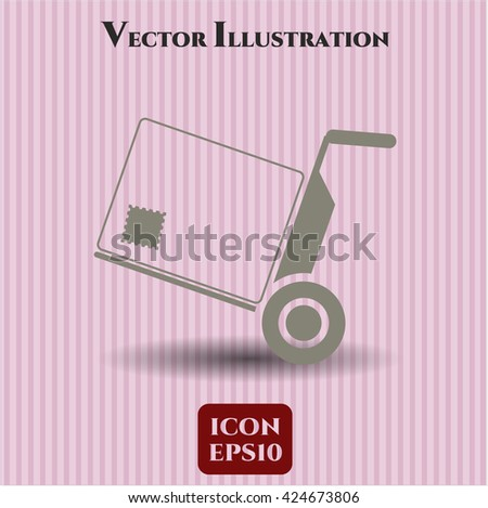 cargo icon vector symbol flat eps jpg app web concept website