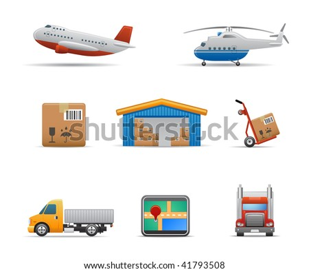 Cargo & Logistic icons set # 2