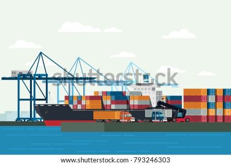 cargo logistics truck and