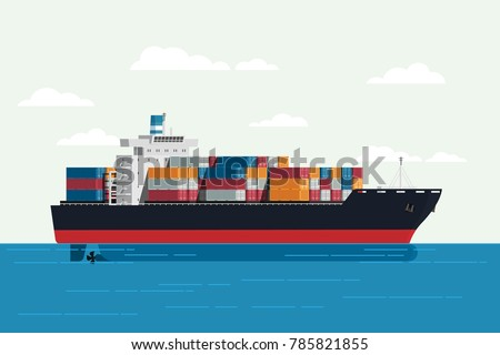 cargo ship container in the
