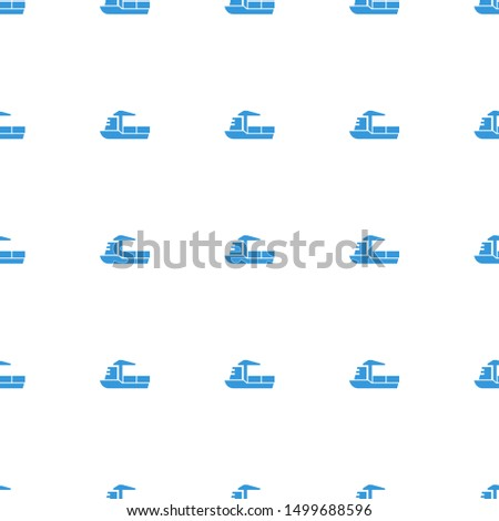 cargo ship icon pattern seamless white background. Editable filled cargo ship icon. cargo ship icon pattern for web and mobile.