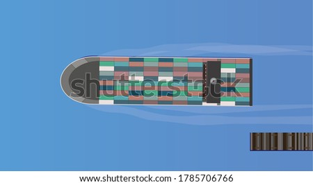 cargo ship leaving a jetty
