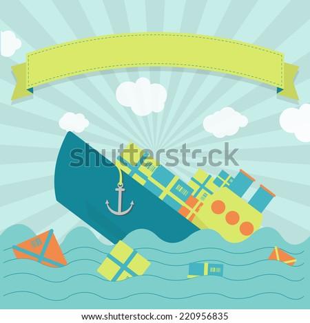 cargo ship sinking cute cargo