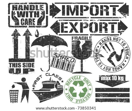 Cargo Stamps Set