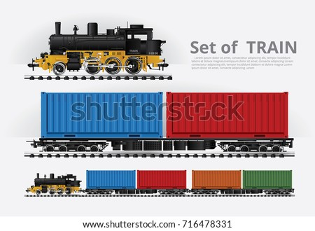 cargo train on a rail road...