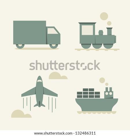 cargo transportation - vector illustration