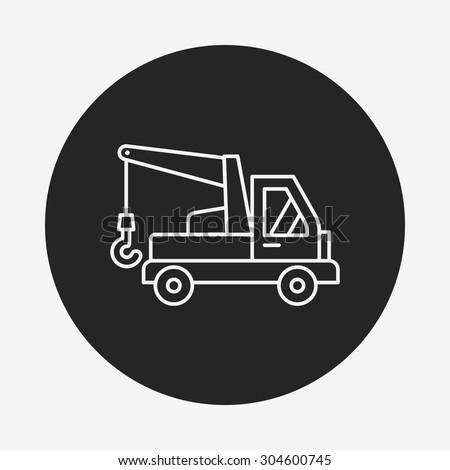 cargo truck line icon
